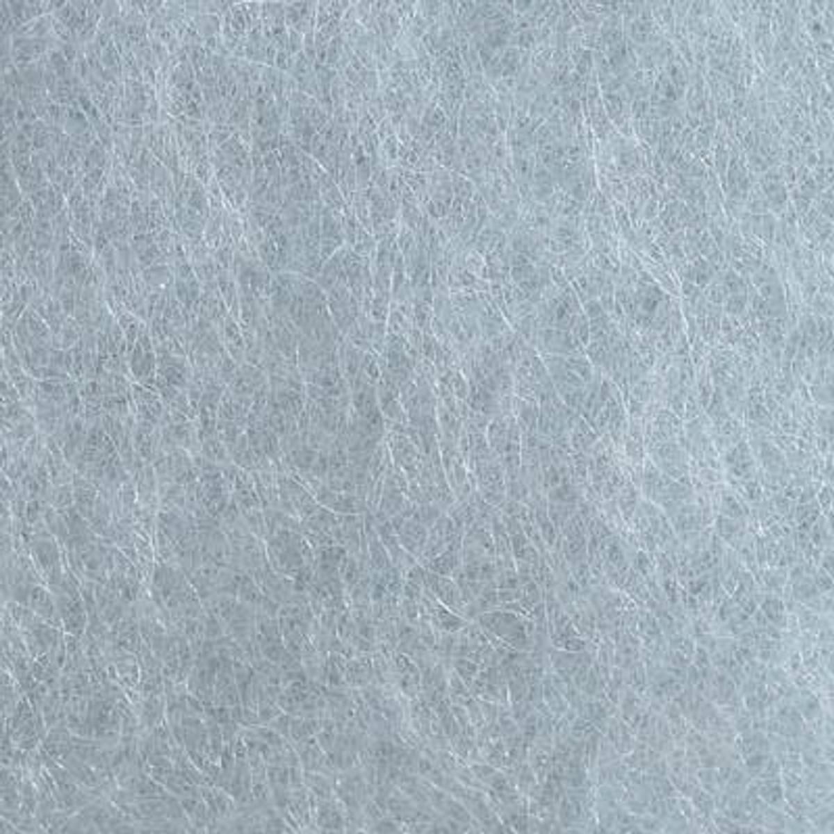Kardet ull, isblå 100g