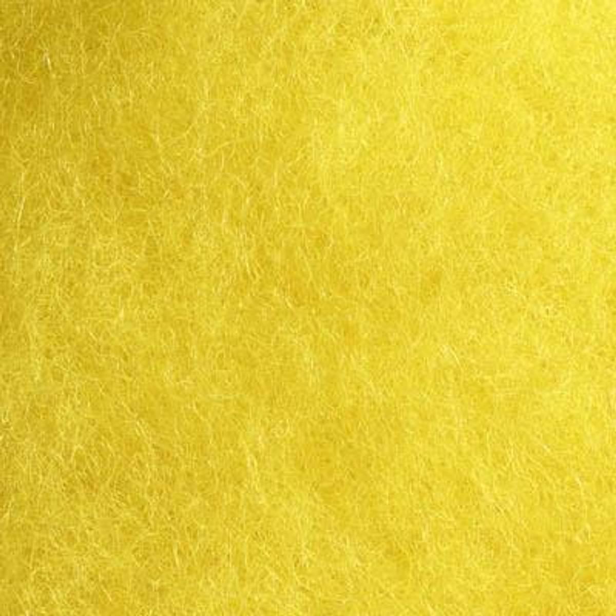 Kardet ull, gul 100g
