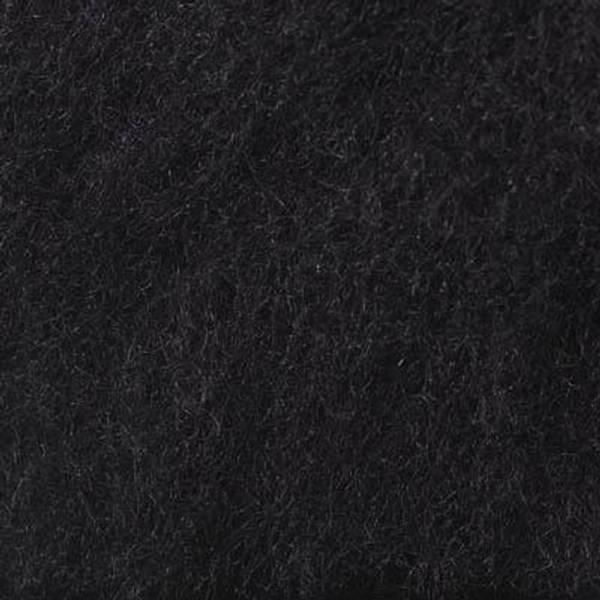 Bilde av Kardet ull, svart 100g