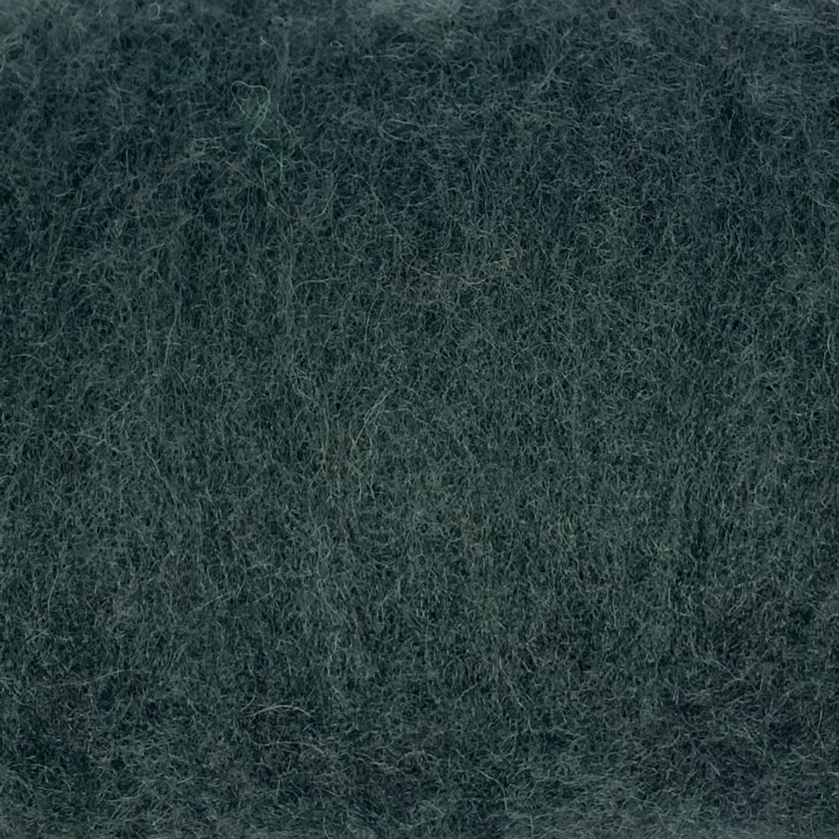 Kardet ull, kald mørkegrønn 100g