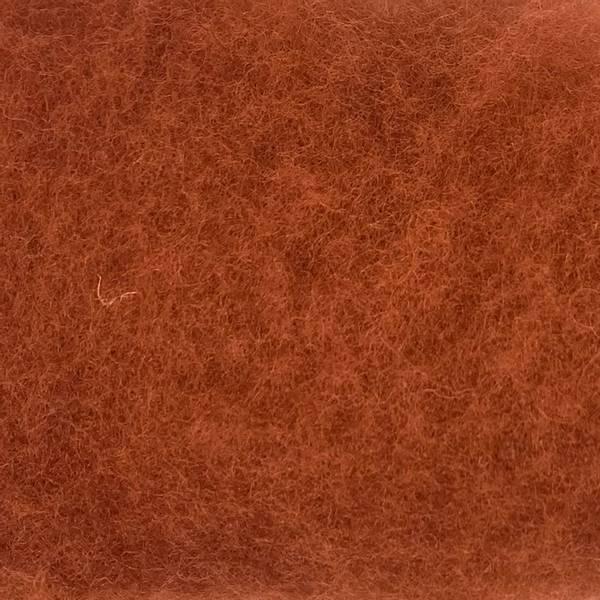 Bilde av Kardet ull, rødbrun 100g