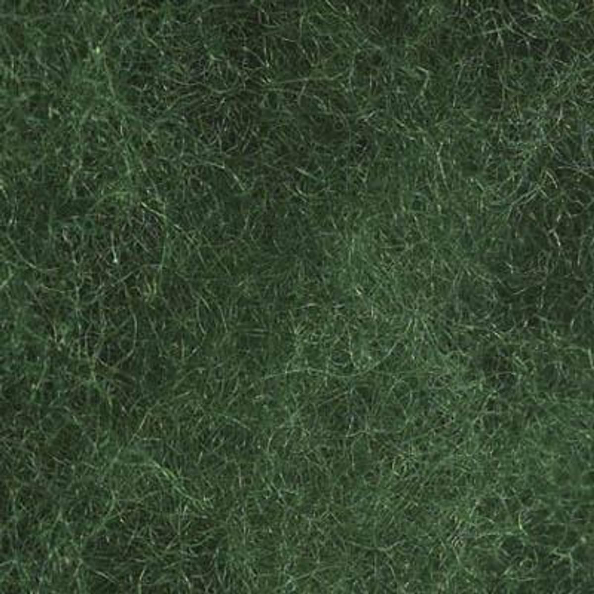 Kardet ull, grønn 100g